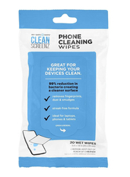 Case-Mate Cleanscreenz Cleansing Phone, 20 Wipes, White