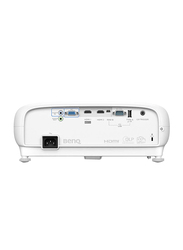 BenQ TK800 4K UHD DLP Wireless Portable Home Entertainment Projector, 3000 Lumens, Built-in Speaker, White