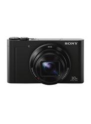 Sony DSC-WX500 Cyber Shot Digital Camera, 18.2 MP, 4K, Black