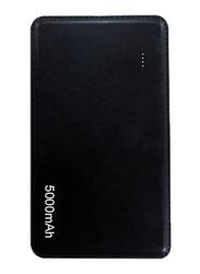 Inet 5000mAh Slim N Light Power Bank with Micro-USB Input, Black