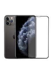 Hyphen Apple iPhone 11 Pro Max Case Friendly Tempered Glass Screen Protector, Black