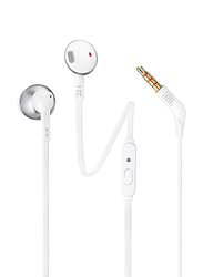 JBL T205 3.5 mm Jack In-Ear Headphones, Silver