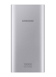 Samsung 10000mAh Fast Charging Power Bank with Micro-USB Input, Silver