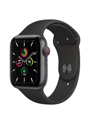 Apple Watch SE 40mm Smartwatch, GPS, Space Grey Aluminum Case with Black Sport Band