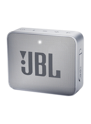 JBL Go 2 Water Resistant Portable Bluetooth Speaker, Ash Gray
