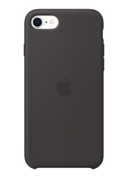 Apple Silicone Case Cover for Apple iPhone SE Mobile Phone, Black