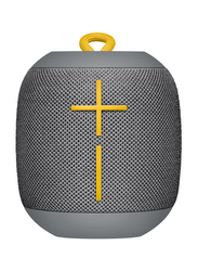 Ultimate Ears Wonderboom Water Resistant Wireless Portable Bluetooth Speaker, Grey