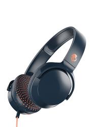 Skullcandy Riff 3.5 mm Jack On-Ear Headphones with Mic, Blue