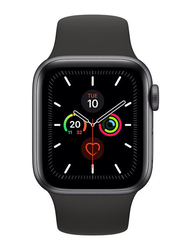 Apple Watch Series 5 - 40mm Smartwatch, GPS, Space Gray Aluminum Case with Black Sport Band
