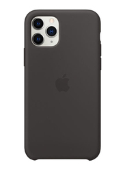 Apple Silicone Back Case Cover for Apple iPhone 11 Pro Mobile Phone, Black