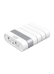 X.cell 13000mAh Power Dual Slots Fast Charging Power Bank, White