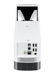 LG HF85JG Ultra Short Throw Laser FHD DLP Wireless Portable Projector, 1500 Lumens, Built-in Speaker, White