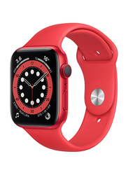 Apple Watch Series 6 - 40mm Smartwatch, GPS, Red Aluminum Case with Red Sport Band