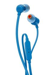 JBL T110 3.5 mm Jack In-Ear Headphones, Blue