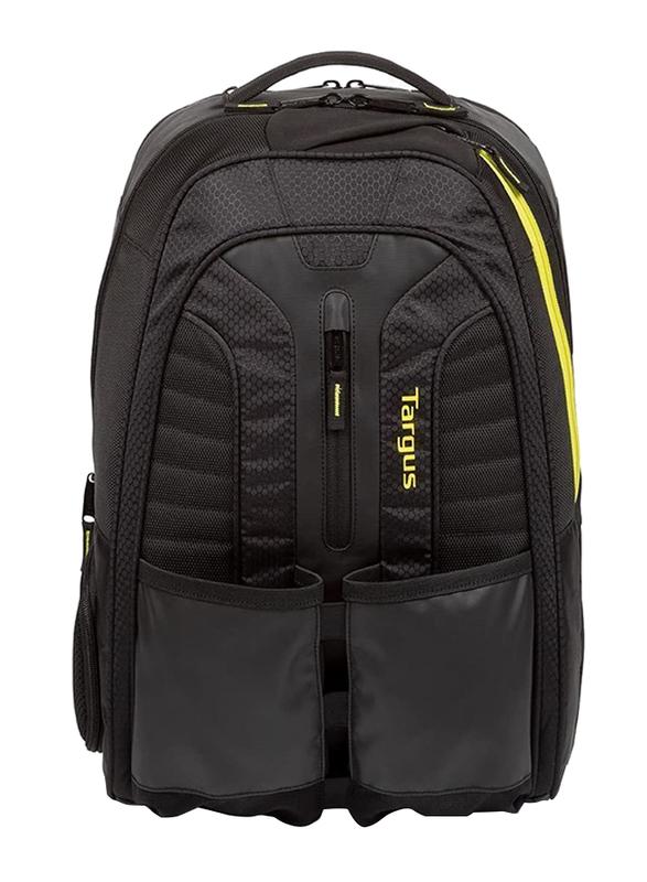 Targus Work + Play Rackets 15.6-inch Backpack Laptop Bag, Black/Yellow