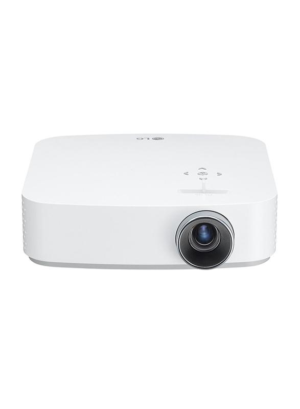 LG PF50KG FHD LED Wireless Portable Projector, 600 Lumens, Built-in Speaker, White