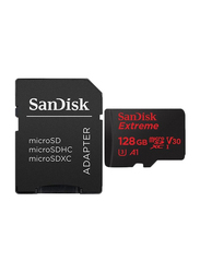 SanDisk 128GB Extreme MicroSD UHS-I Memory Card with Adapter, Black