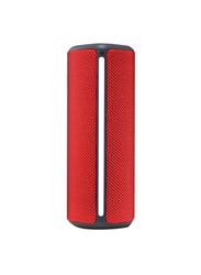 LG PH4R Splashproof Portable Bluetooth Speaker, Red