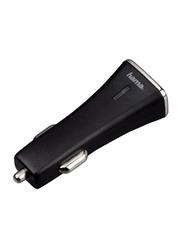 Hama Car Charger, 3.1A Twin Power Dual USB Port, Black