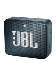 JBL Go 2 Water Resistant Portable Bluetooth Speaker, Slate Navy