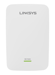 Linksys RE7000 Max-Stream + Wi-Fi Range Extender AC1900, White