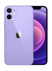 Apple iPhone 12 128GB Purple, without Facetime, 4GB RAM, 5G, Dual Sim Smartphone, Middle East Version