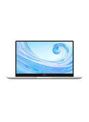 "Huawei Matebook D 15 Laptop, 15"" IPS Display, AMD Ryzen 5 3500U 2.1GHz, 1TB HDD + 256GB SSD, 8GB RAM, Radeon Vega 8 Graphics, EN KB, Win 10, MATEBOOK-D15-53010UKP, Mystic Silver"