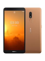 Nokia C3 16GB Sand Gold, 2GB RAM, 4G LTE, Dual Sim Smartphone