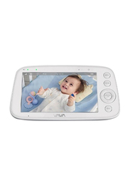 """Vava 720P Video Baby Monitor with Infrared Night Vision, 5"""" HD Display 2.4GHz Wireless Connection, Two Way Talk, White"""