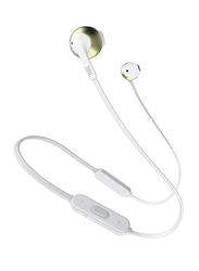 JBL T205BT Wireless In-Ear Headphones, Gold