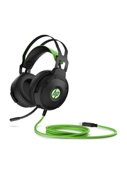 HP Pavilion 600+ USB Cable Over-Ear Gaming Headset with Mic, Black/Green