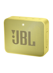 JBL Go 2 Water Resistant Portable Bluetooth Speaker, Lemonade Yellow
