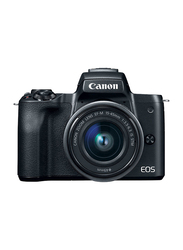 Canon EOS M50 Mirrorless Camera with EF-M15-45mm Lens, 24.1MP, 4K, Black