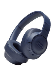 JBL Tune 750BTNC Wireless On-Ear Noise Canceling Headphones with Mic, Blue