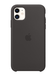 Apple Silicone Back Case Cover for Apple iPhone 11 Mobile Phone, Black