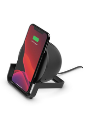 Belkin Boost UP 10W Fast Charging, Wireless Qi Certified Charging Stand for iPhone, Black