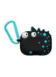 Case-Mate Spike Creaturepods Case for Apple AirPods Pro, Black/Blue