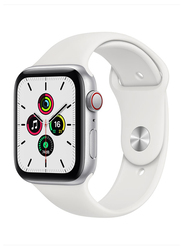 Apple Watch SE - 40mm Smartwatch, GPS, Silver Aluminum Case with White Sport Band