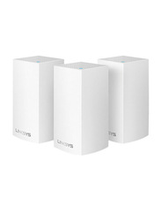 Linksys Velop Whole Home Intelligent Mesh Wi-Fi System, Dual Band, 3-pack, White