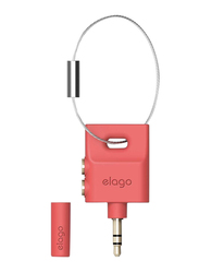 Elago Keyring Headphone Splitter, Italian Rose