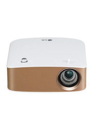 LG PH150G Cinebeam HD LED Wireless Projector, 130 Lumens, Built-in Speaker, White/Copper