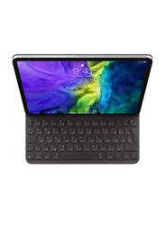 Apple Smart English-Arabic Keyboard Folio Case Cover for Apple iPad Pro 11-inch (2nd Generation) Tablet, Black
