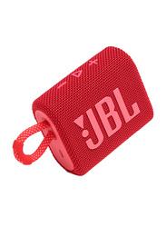 JBL Go 3 IP67 Waterproof Portable Bluetooth Speaker, Red