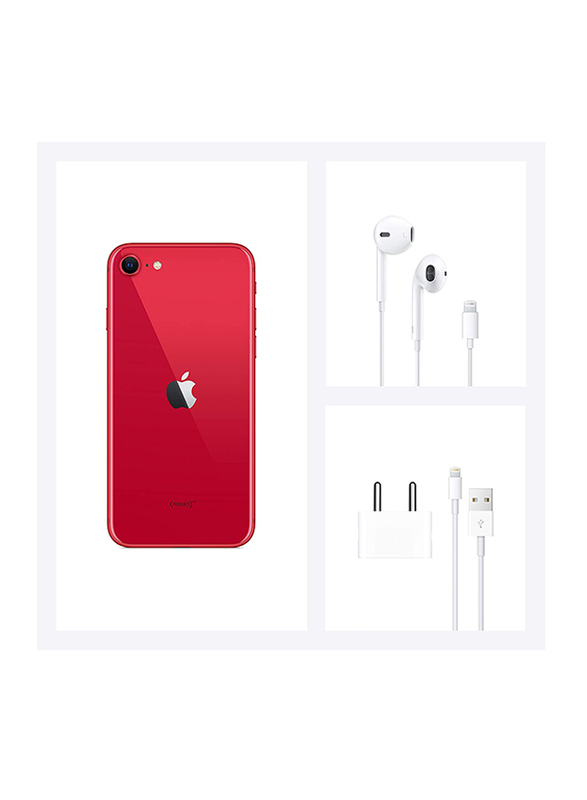 Apple iPhone SE 128GB Red, 3GB RAM, Without FaceTime, 4G LTE, Dual Sim Smartphone