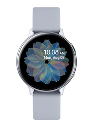 Samsung Galaxy Active 2 - 44mm Smartwatch, GPS, Cloud Silver Aluminium Case with Blue Fluorcelastomer Band