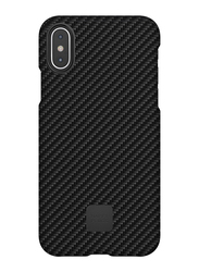 Happy Plugs Apple iPhone X Carbon Fiber Protective Mobile Phone Case Cover, Black