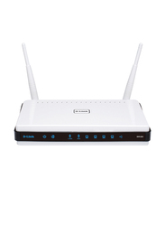 D-Link DL-DIR825 N Quad Band Wireless Home Router, White