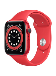 Apple Watch Series 6 - 44mm Smartwatch, GPS, Red Aluminum Case with Red Sand Sport Band