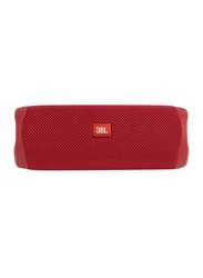 JBL Flip 5 Water Resistant Portable Speaker, Red