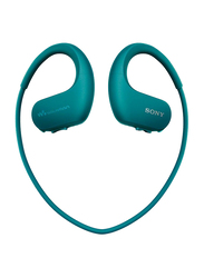 Sony NW-WS413 Waterproof and Dustproof In-Ear Walkman Headphones, 4GB, Viridian Blue